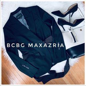BCBG MAXAZRIA Blazer W/Black Satin Tie in Back